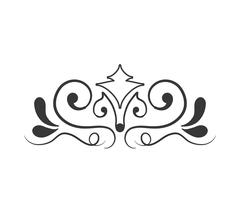 Ornament icon. Vintage draw design. Vector graphic - stock illustration