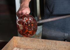 Fancy Glass Pumpkin Artwork Stock Photos