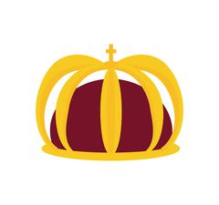 Crown icon. Royalty  design. Vector graphic Stock Illustration