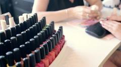 Studio beauty, nails manicure, Stock Footage
