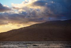 Shoreline of Kaheawa Wind Farm Stock Photos