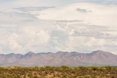 Arizona Monsoon Clouds Above Mountains Stock Photos