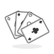 Casino design. Game and las vegas illustration Stock Illustration