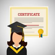 University design. graduation and education illustration Stock Illustration