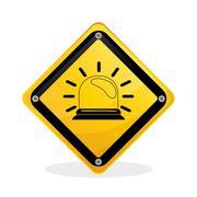 Industrial security design. road sign and alert illustration Stock Illustration