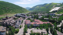 Vail Colorado Aerial View From Above Stock Footage