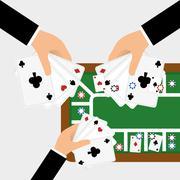 Casino design. Game and las vegas illustration Piirros