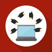 University design. graduation and education illustration Piirros