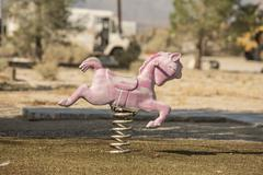 Abandoned Toy Horse Stock Photos