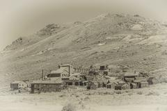 Vintage Style Photo of Bodie Ghost Town Kuvituskuvat