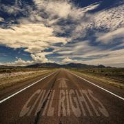 Conceptual Image of Road With the Words Civil Rights Stock Photos