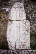 Christian Cross in Laodicea - stock photo