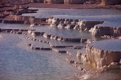 Geologic Terraces at Pamukkale - stock photo