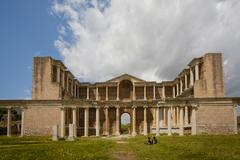 Gymnasium at Sardis in Turkey Stock Photos