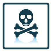 Poison sign icon Stock Illustration