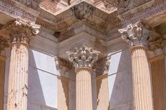 Corinthian Style Columns at Sardis Stock Photos