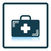 Medical case icon - stock illustration