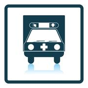 Ambulance car icon - stock illustration