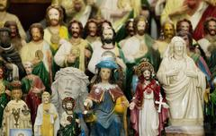 Saints and Jesus Christ on an Altar - stock photo