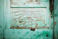 Blue Green Door Detail Stock Photos