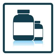 Pills container icon Stock Illustration