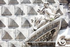 ashlar  in Historical center of Naples - stock photo
