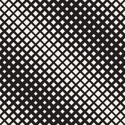 Vector Seamless Black And White Diagonal Halftone Rhombus Pattern - stock illustration