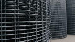 Rolls of Metallic Net , Steel Chicken Wire Stock Footage