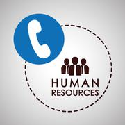 Human resources design. people icon. employee concept - stock illustration