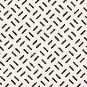 Vector Seamless Black And White Hand Drawn Lines Pattern Stock Illustration