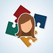 Human resources design. people icon. employee concept Stock Illustration