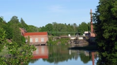 RAASEPORI, UUSIMAA, FINLAND, JUNE 5 Time lapse of billnas ironworks, in Billn - stock footage