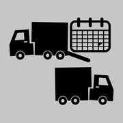 Logistic design. Shipping and Delivery conception Stock Illustration