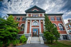 The Public Library, in Dover, New Hampshire. Stock Photos