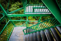 The stairs of Garrison Hill Tower at Garrison Hill Park, in Dover, New Hampsh Stock Photos