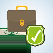 Security system design. warning icon. protection concept - stock illustration