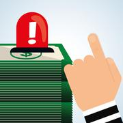 Security system design. warning icon. protection concept Stock Illustration