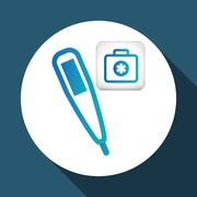 Medical care design. health care icon. urgency concept - stock illustration