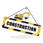 Construction design. work icon. repair concept, vector illustration Stock Illustration