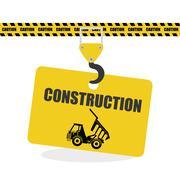 Construction design. work icon. repair concept, vector illustration - stock illustration
