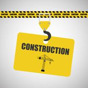 Construction design. work icon. repair concept, vector illustration - stock illustration