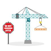 Construction design. crane icon. repair concept, vector illustration Stock Illustration