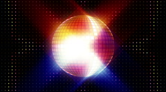 Disco ball strobe animation Stock Footage