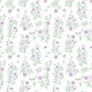 Small flower pattern. Vintage floral seamless background. Delicate blue green on - stock illustration