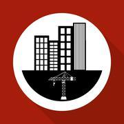 Construction design. crane icon. repair concept, vector illustration Stock Illustration