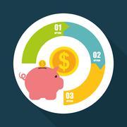 Money design. infographic icon. business concept, vector illustration Stock Illustration