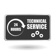 Technical service. call center icon. support concept - stock illustration