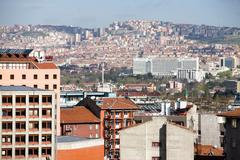 Residential and business sections of Ankara Stock Photos