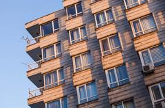 Modern apartment building in Turkey Stock Photos