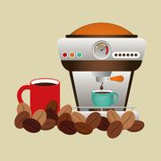 Coffee design. breakfast conceptl. white background Stock Illustration